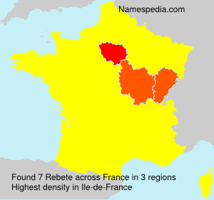 Surname Rebete in France