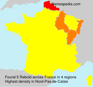 Surname Rebold in France