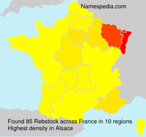 Surname Rebstock in France