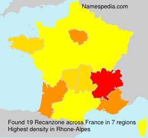 Surname Recanzone in France