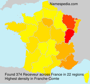 Surname Receveur in France