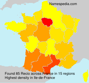 Surname Recio in France