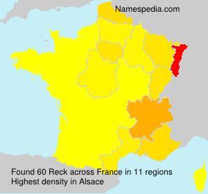 Surname Reck in France