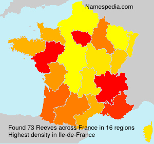 Surname Reeves in France