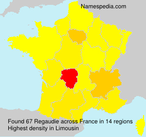 Surname Regaudie in France