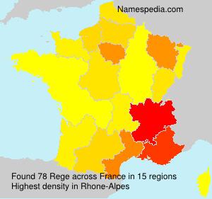 Surname Rege in France