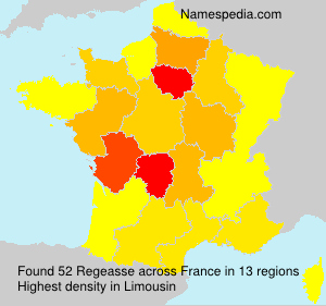 Surname Regeasse in France