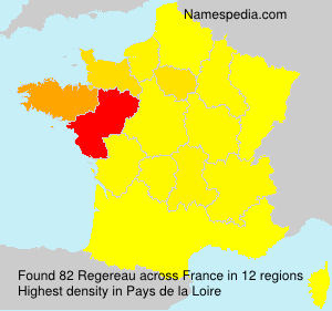 Surname Regereau in France