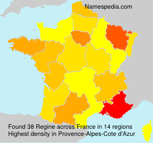 Surname Regine in France