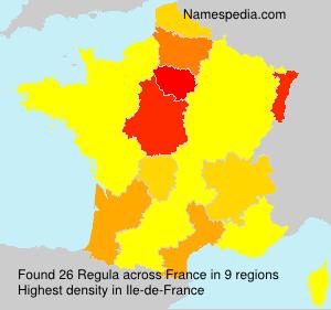 Surname Regula in France