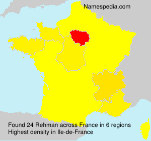 Surname Rehman in France