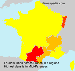 Surname Rehs in France