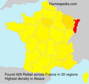 Surname Reibel in France