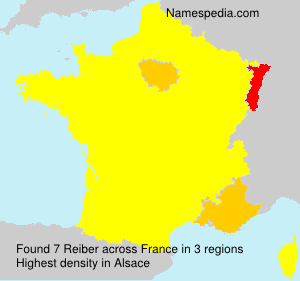 Surname Reiber in France