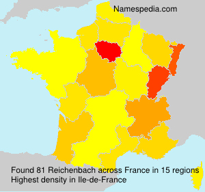 Surname Reichenbach in France