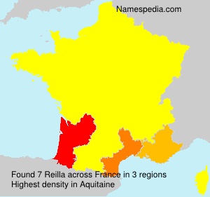 Surname Reilla in France