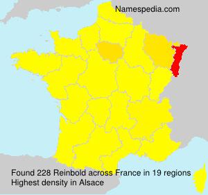 Familiennamen Reinbold - France
