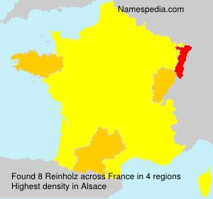 Surname Reinholz in France