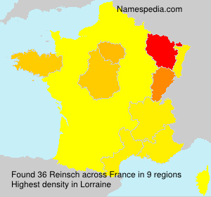 Surname Reinsch in France