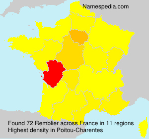 Surname Remblier in France