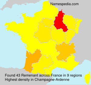 Surname Remenant in France