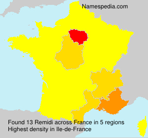 Surname Remidi in France
