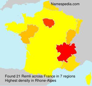 Familiennamen Remli - France