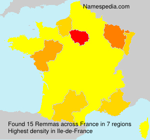 Surname Remmas in France