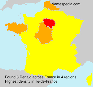 Surname Renald in France
