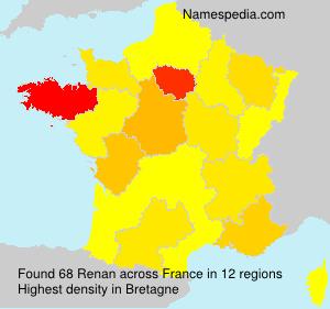 Surname Renan in France