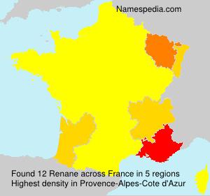 Familiennamen Renane - France