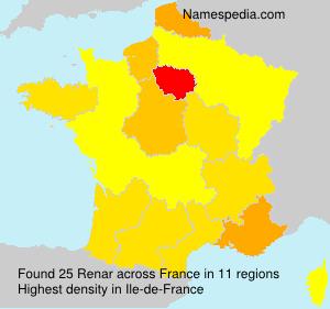 Familiennamen Renar - France