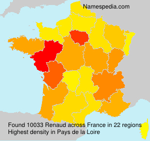 Surname Renaud in France