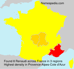 Surname Renaudi in France