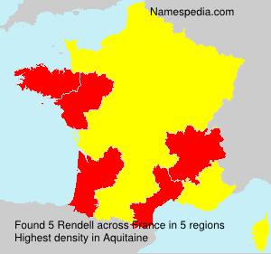 Surname Rendell in France