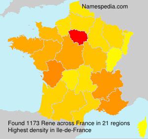 Surname Rene in France
