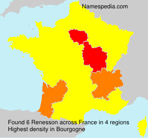 Surname Renesson in France