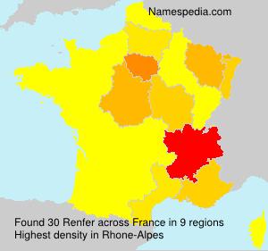 Surname Renfer in France