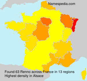 Surname Renno in France
