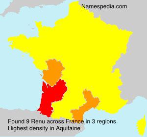 Familiennamen Renu - France