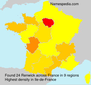 Surname Renwick in France