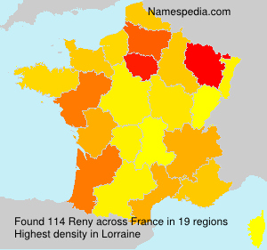 Surname Reny in France