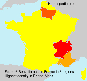 Surname Renzella in France