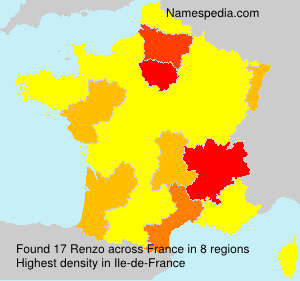Surname Renzo in France