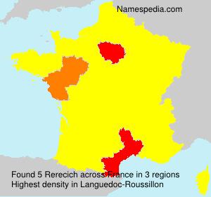 Familiennamen Rerecich - France