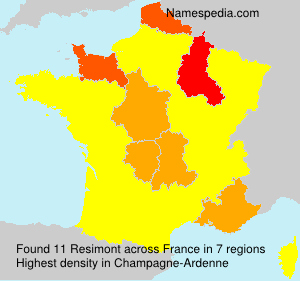 Surname Resimont in France