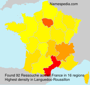 Surname Ressouche in France