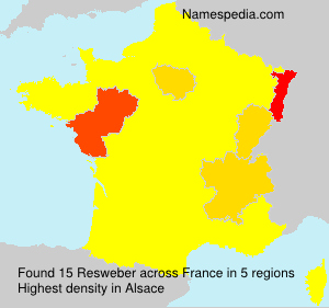 Surname Resweber in France