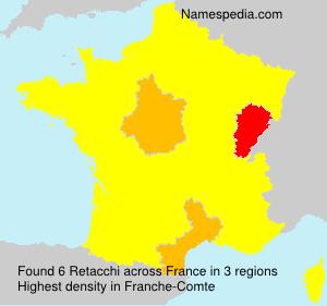 Surname Retacchi in France