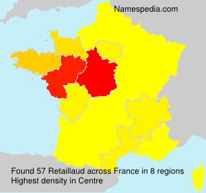 Surname Retaillaud in France